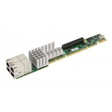 Supermicro 4-Port 10GBase-T RJ45 1U Ultra Riser Card