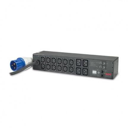 APC AP7822 Rack PDU, Metered, 2U, 32A, 230V, (12) C13 & (4) C19