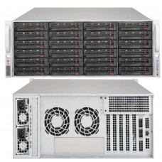 846BE1C-R920B, 24 Bay 4U, Single SAS-III Expander Chassis, Dual 920W PSU