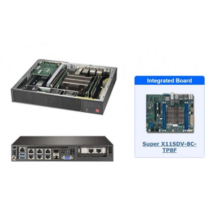 Supermicro 1U SuperServer E300-9D-8CN8TP