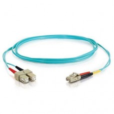 15M LC/LC 10GB OM3 Multimode Aqua Fiber